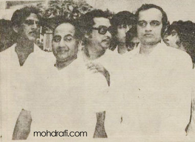 Mohd Rafi with Kishore Kumar and Kalyanji