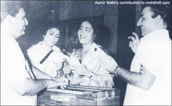 Mohd Rafi with Geeta Dutt, Suman Kalyanpur and Shankar