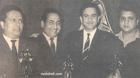 Rafi Sahab with Shankar-Jaikishan and Raj Kapoor