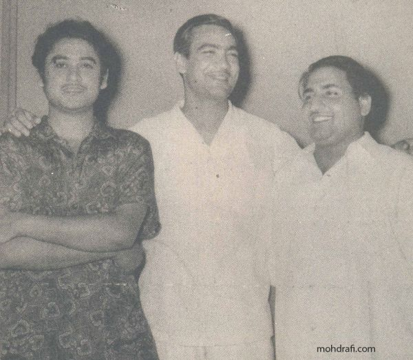 O.P.Nayyar with Mohd Rafi and Kishore Kumar