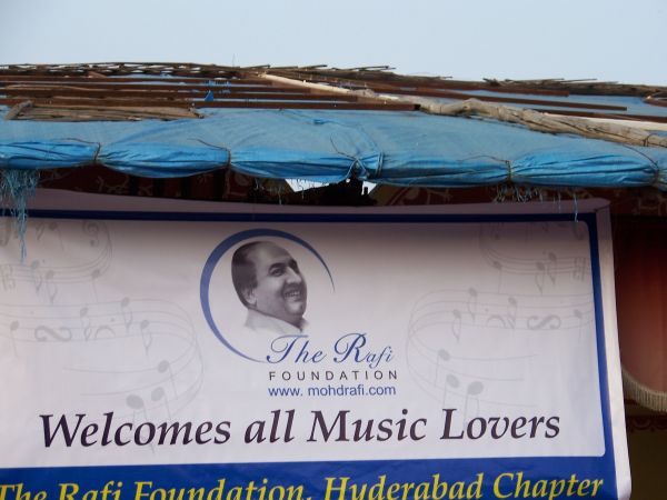 Banner of the Rafi Foundation welcoming all the music lovers to the show