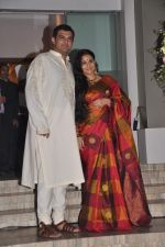 vidya poses with siddharth roy kapoor at her pre wedding bash.JPG