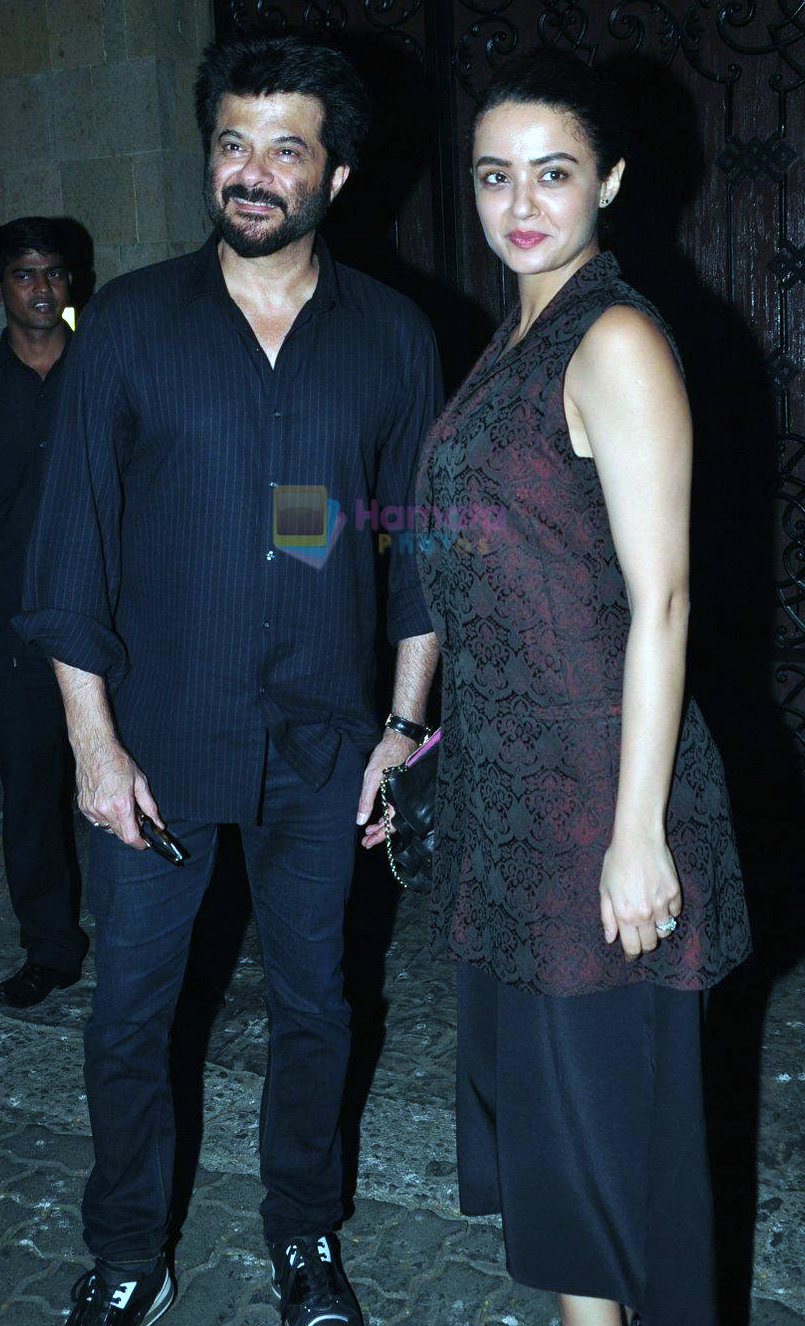 Surveen Chawla, Anil Kapoor at Anil Kapoor's party for the cast of 24 at his bunglow on 9th Feb 2016