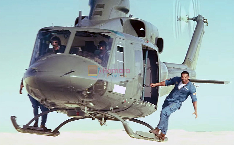 John Abraham and Varun Dhawan in Dishoom Movie Still