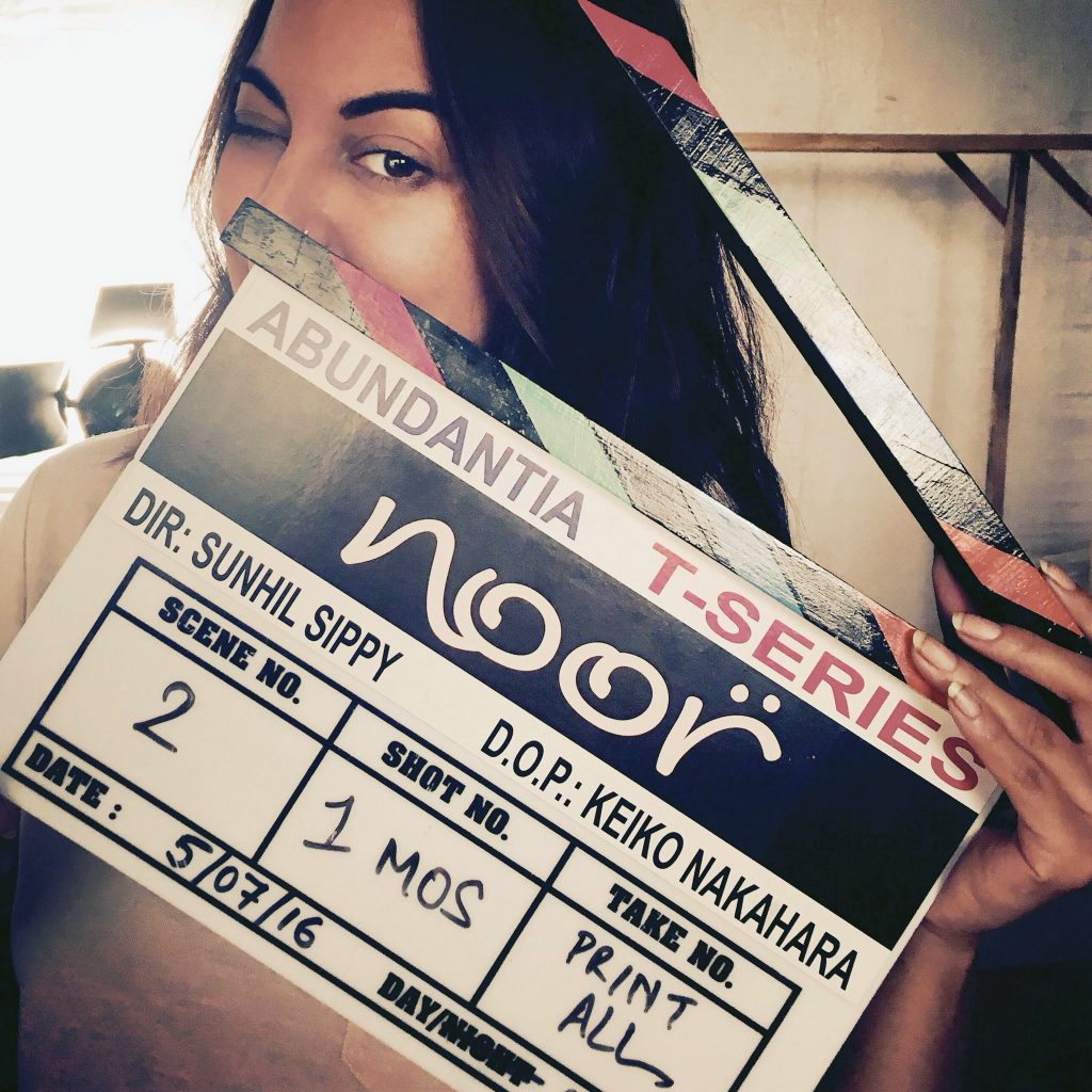 Sonakshi Sinha on the sets of Noor